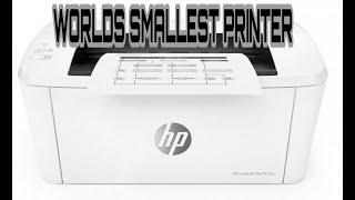 UNBOXING WORLD'S SMALLEST LASER JET PRINTER HP LASERJET PRO M15W