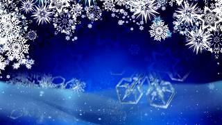 Красивый зимний футаж со снежинками