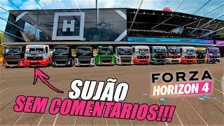 O RACHA MAIS DESLEAL DA HISTORIA!! DE CAMINHÕES - FORZA HORIZON 4