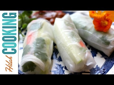 How to Make Fresh Spring Rolls or Summer Rolls  Hilah Cooking Ep 30