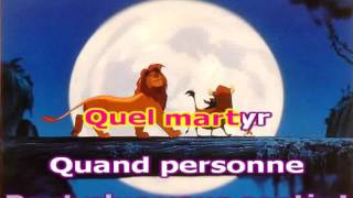 the lion king Hakuna Matata french karaoke