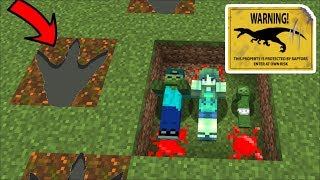 Minecraft DON'T GET EATEN BY DINOSAURS in Minecraft / DON'T DIE FROM A DINOSAUR ATTACK !! Minecraft