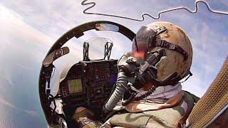 Cockpit View: AV-8B Harrier II Taking Off From USS Kearsarge. Pilot's Perspective