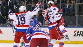 Capitals vs. Rangers- Joel Ward Scores with 1 Second left to Win Game 1