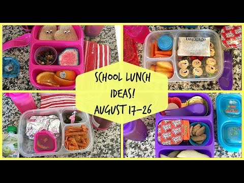School Lunch Ideas! Back To School!