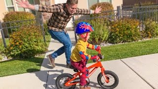 TWO YEAR OLD RIDES BIKE FOR THE FIRST TIME!