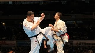 THE 10th WORLD KARATE CHAMPIONSHIP Men 2nd round Luan Vieira vs Tak...