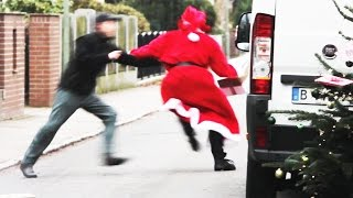 Bad Santa Stealing Presents Prank!