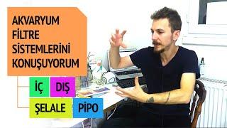 Akvaryum Filtreleri Hakkında Görüşlerim - Pipo Filtre - İç-Dış Filtre- Şelale Filtre