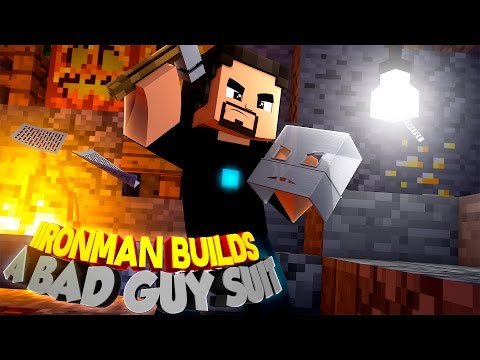 Minecraft Adventure - IRONMAN BUILDS A NEW SUIT FOR A BAD GUY!!!