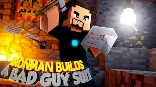 Minecraft Adventure - IRONMAN BUILDS A NEW SUIT FOR A BAD GUY!!! Ro...