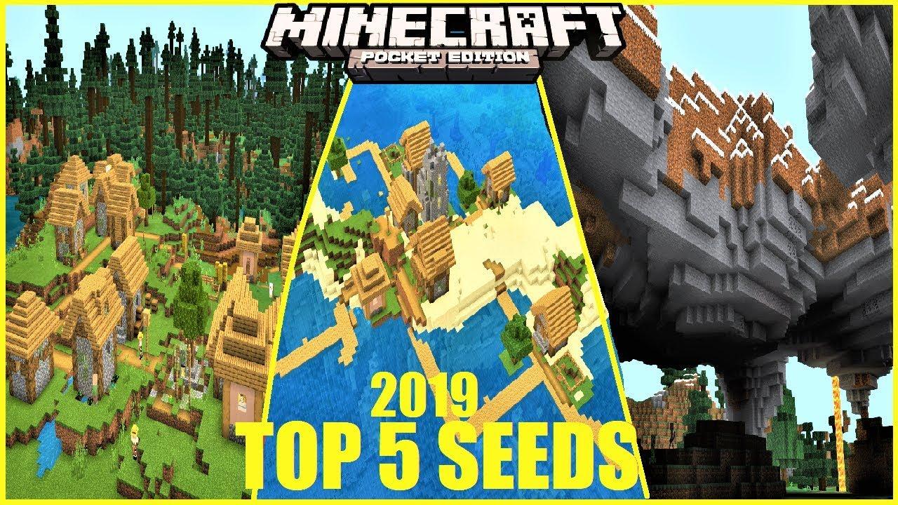 Best Minecraft Seeds 2020 Minecraft PE   TOP 5 SEEDS for 2019 #6 ! DOUBLE VILLAGE ON ISLAND