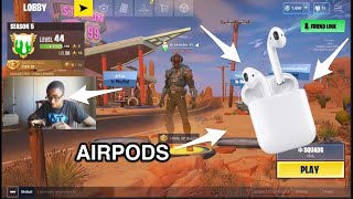Playing with My AIRPODS in FORTNITE| Will It Help Improve My Chance of WINNING?