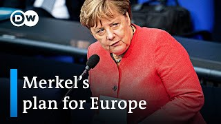 Angela Merkel lays out plan for her EU Presidency | DW News