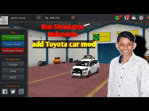 Bus Simulator Indonesia Toyota Car Mod Download 100 Working Youtube