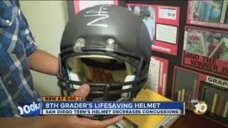 Local teen's football helmet invention could save lives
