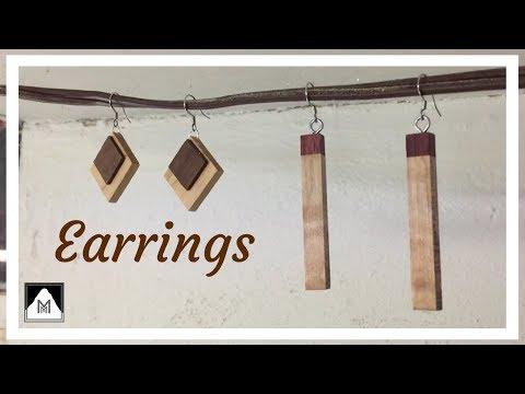 Making Wooden Earrings...in reverse