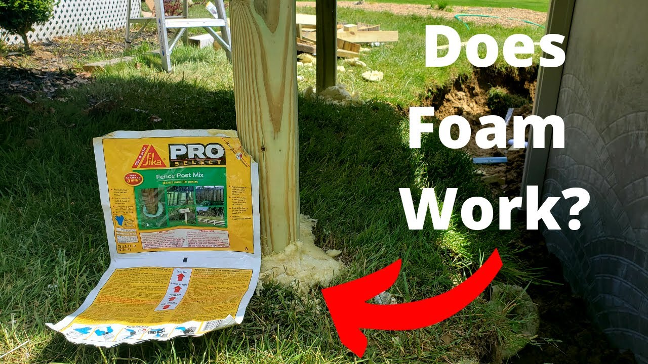 Foam Vs Concrete Fence Post Setting Test This May Be One Of The Coolest Products Reviewed Yet Youtube
