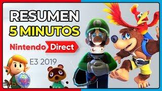 ¡¡RESUMEN EN 5 MINUTOS!! Nintendo Direct E3 2019 | Zelda, Banjo-Kazooie, Luigi y más