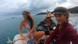 My Family LIVING AT SEA! (MASSIVE) Beach Clean Ups In The Whitsundays! Climbing COCONUT Trees