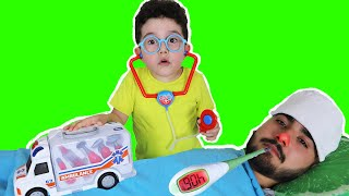 Doktor Yusuf Hastayı Tedavi Etti | Kids play with Ambulance Medical Toys