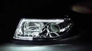 a4 s4 2001 2004 4d b6 8e 8h projector led r8 headlight w amber chrome for audi