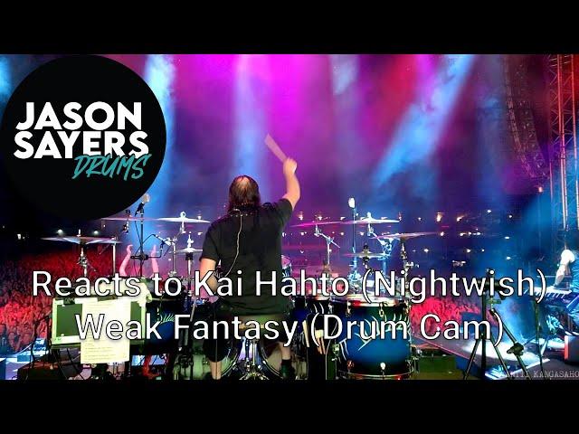 Drummer reacts to Kai Hahto from Nightwish - Weak Fantasy Drum Cam