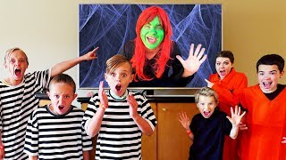 The Babysitter is Back! Kids Fun TV Solving Puzzles to Get Out!