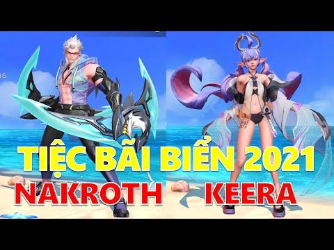 Chính thức ra mắt Tiệc bãi biển Nakroth và Keera hè 2021 Liên quân mobile