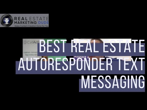 Best Real Estate Autoresponder Using Text Messaging & Personalization