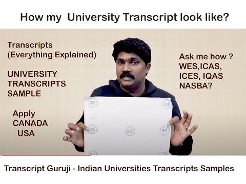 WES ECA Official Transcript - How To Apply-  All University Samples Shown And Explained Here