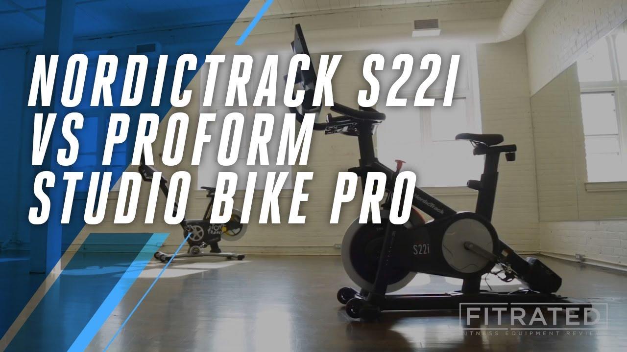 23e7fab4fda NordicTrack S22i vs ProForm Studio Bike Pro - YouTube
