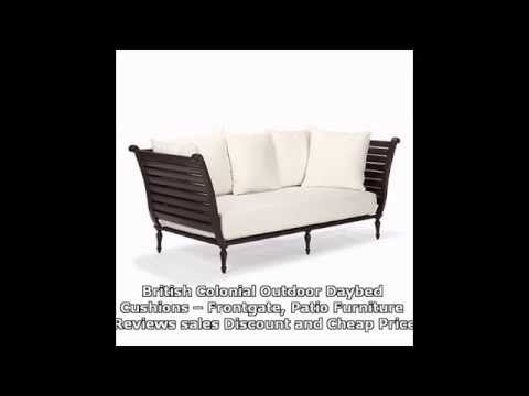 British Colonial Outdoor Daybed Cushions    Frontgate, Patio Furniture    YouTube