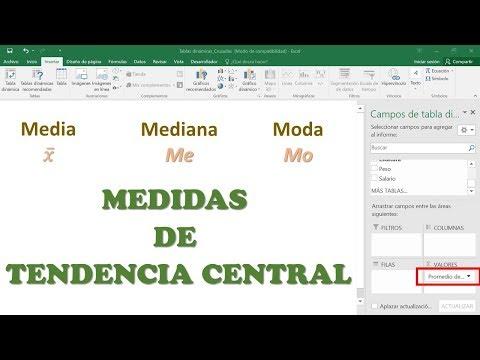 CÓMO SACAR La MEDIA, MEDIANA Y MODA En Excel, Medidas De TENDENCIA CENTRAL  En EXCEL PASO A PASO