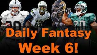 Daily Fantasy Week 6 - Fantasy Football 2018 Players to avoid