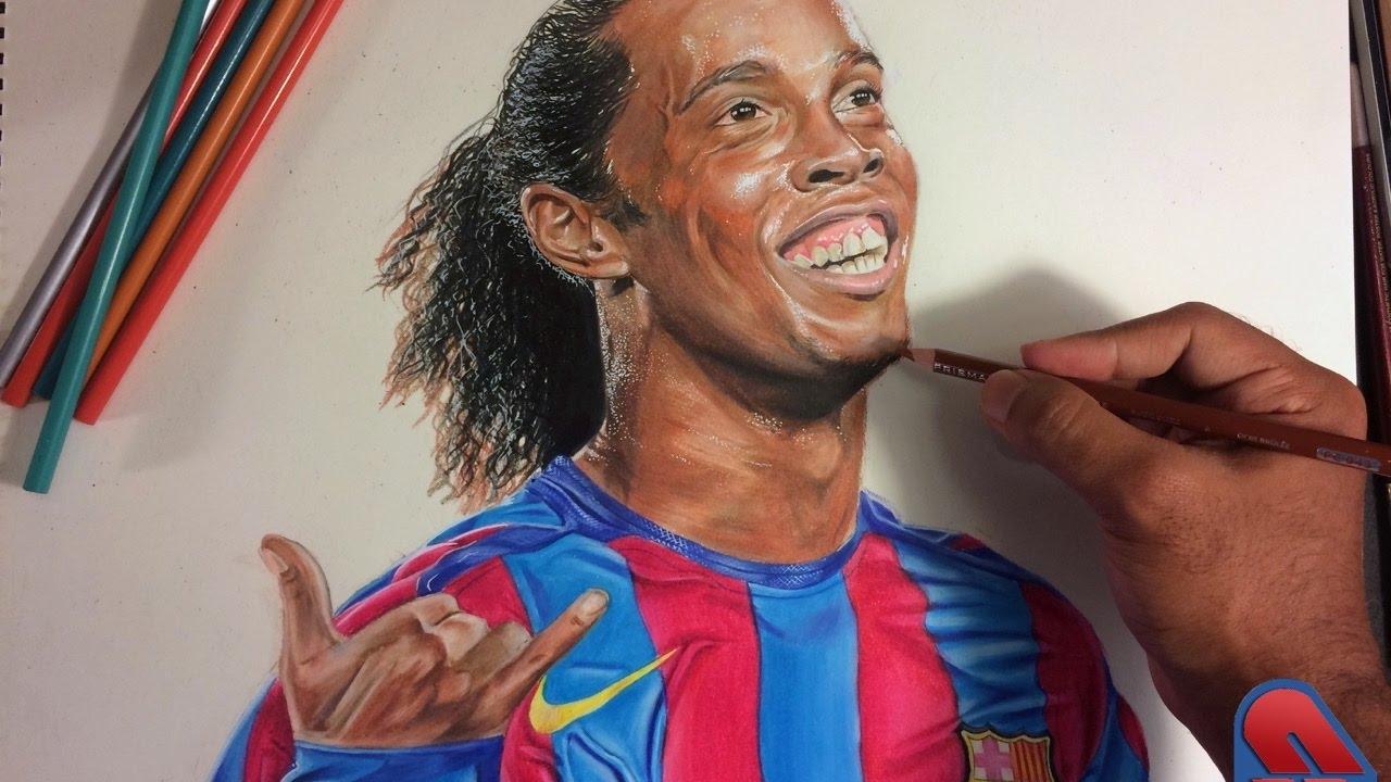 Ronaldinho Gaucho Speed Drawing by SinArty