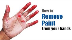 How to remove paint from your hands