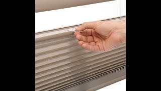 HOW TO INSTALL CORDLESS CELLULAR SHADES OR BLINDS (instructional video)