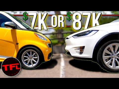 Is This All-Electric Smart ForTwo Really WORTH $80,000 LESS Than A Tesla Model X?