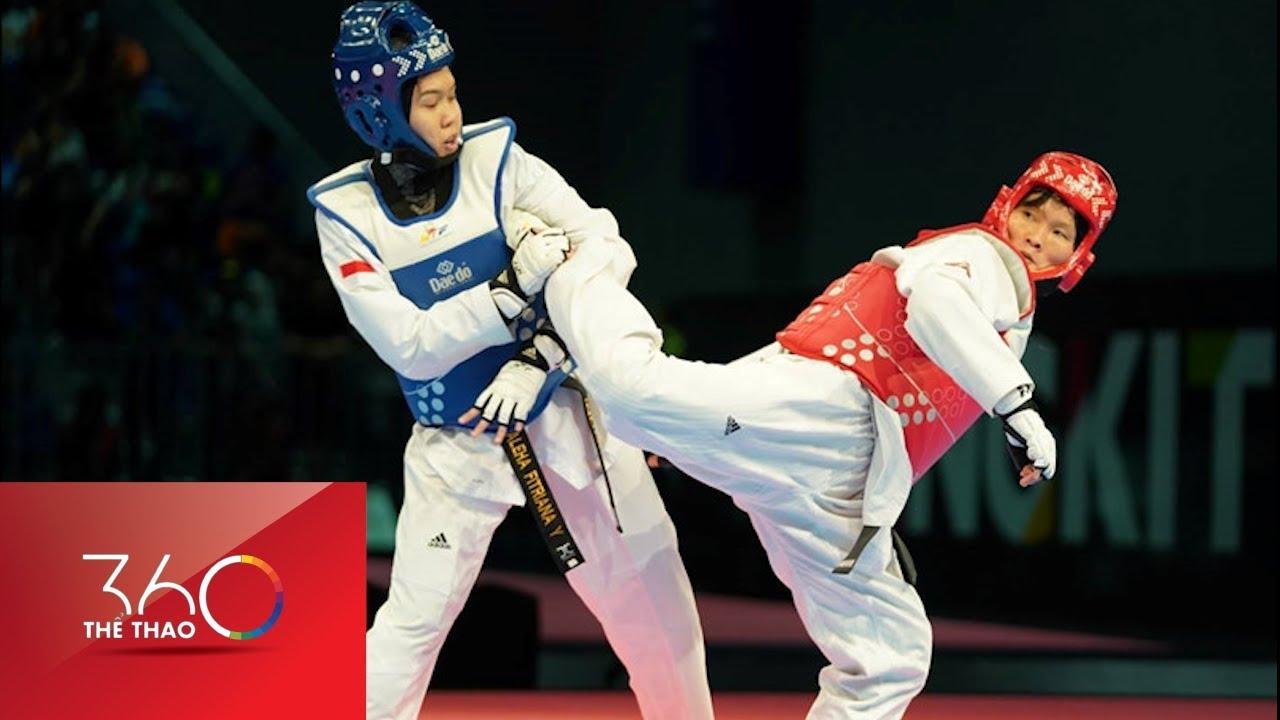 Cú đá liên hồi giúp võ sĩ Taekwondo Việt Nam giành HCV SEA Games 29