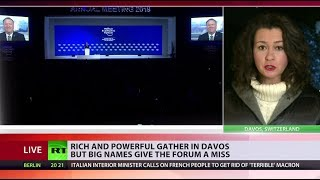 Rich & powerful gather in Davos but some big names are missing