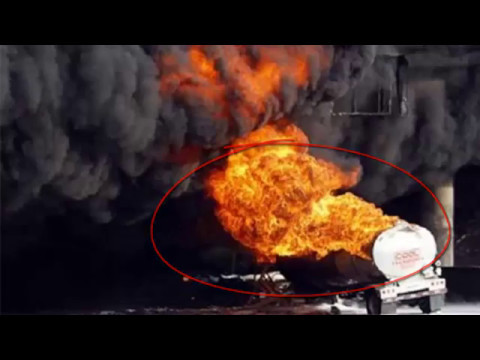 Oil Tanker blast and traffic jam
