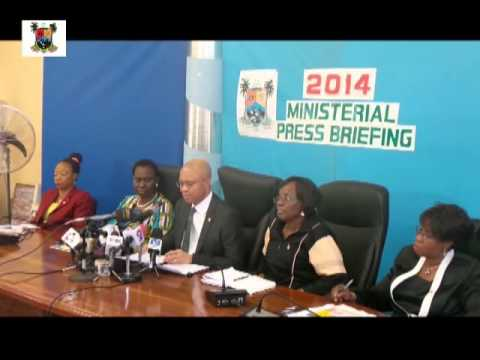 MINISTRY OF ECONOMIC PLANNING & BUDGET 2014 MINISTERIAL PRESS BRIEFING