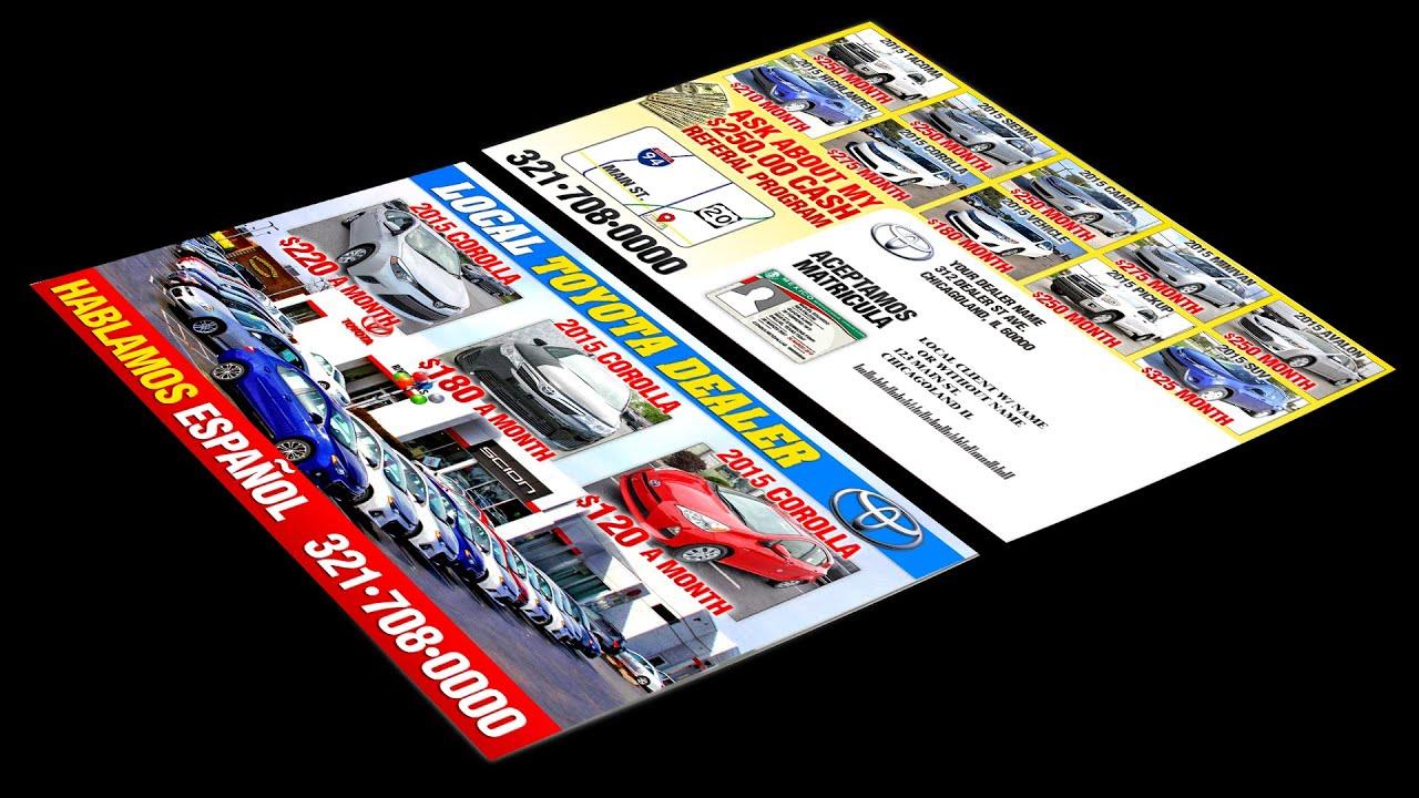 Car Dealer Flyers Postcards U0026 Doorhangers   YouTube  Car Flyers