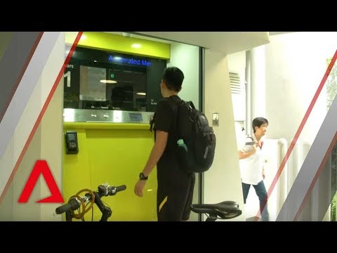 How to use Singapore's first fully automated underground bicycle parking system