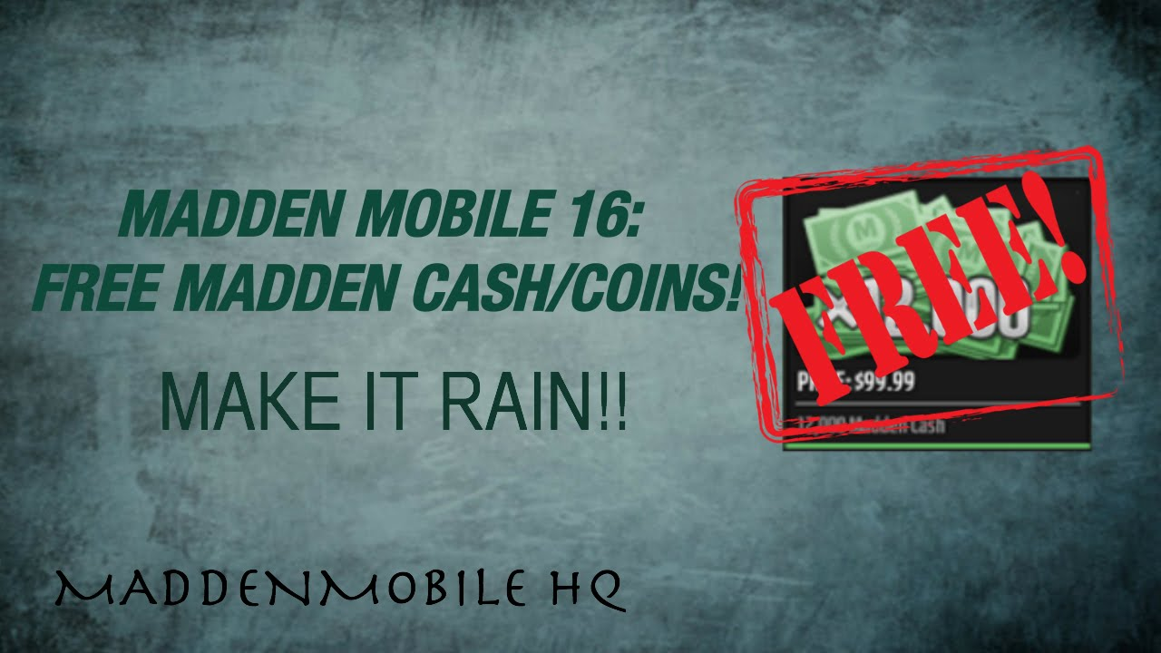 madden mobile 16 how to get free coins madden cash youtube