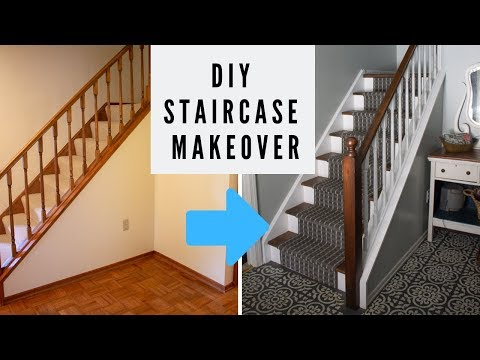 EASY DIY Staircase Makeover on a Budget