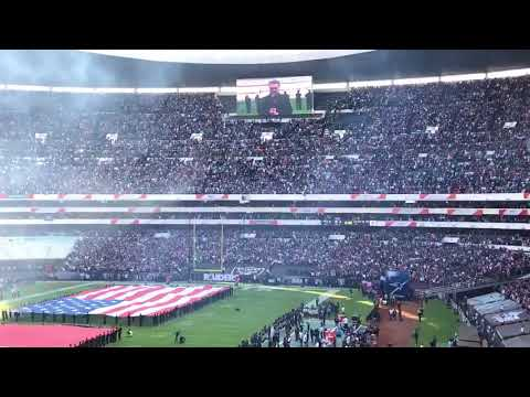 NFL Mexico  Mexican National Anthem  Raiders vs Patriots 2017