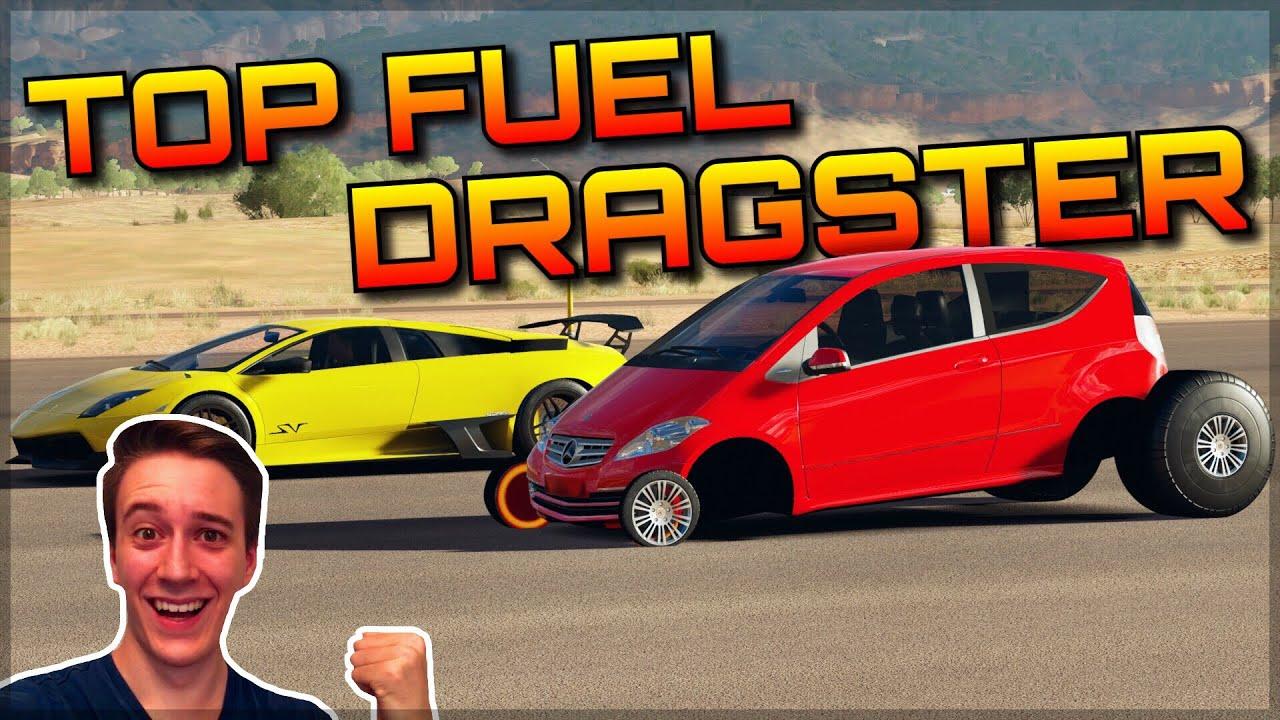 Funny Traffic Car Top Fuel Dragster Forza Horizon 3 Dev Mods Crazy Acceleration
