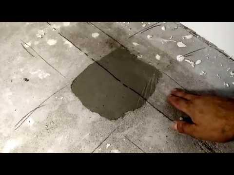 Тест высохшего тонкого слоя плиточного клея ...